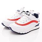 FILA頂級童鞋 時尚老爹鞋款 FO02T-123白藍紅(中大童段)