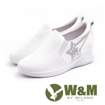 W&M 正韓 流星內增高休閒鞋 女鞋 - 白 (另有黑)