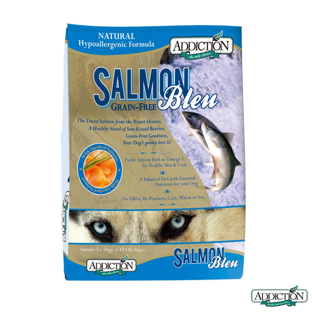 Addiction自然癮食 無穀藍鮭魚寵食 全犬 454克 X 2包