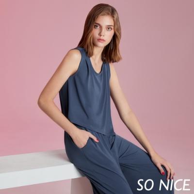 SO NICE休閒簡約造型連身褲