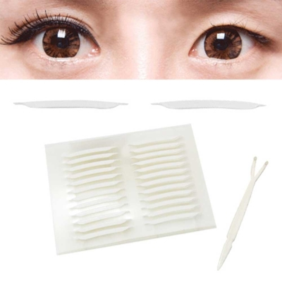 kiret 韓國全隱形超強力雙面膠雙眼皮貼尖角極細版2mm超值加量168枚入-贈Y型棒