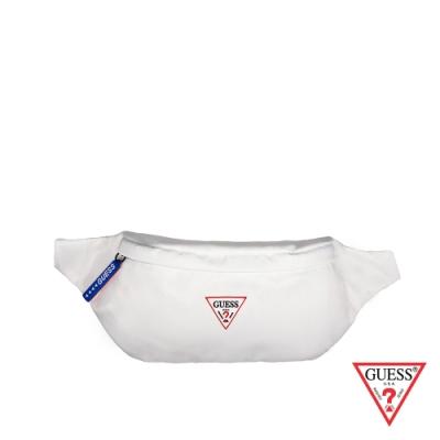 GUESS-男包-簡約素色尼龍腰包-白色 原價1690