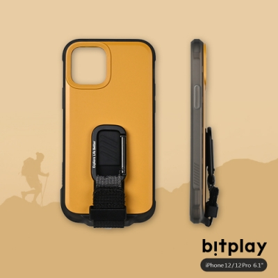 bitplay Wander Case iPhone 12/12 Pro(6.1吋)專用 獨創支架扣環掛繩軍規防摔立扣殼▲黃