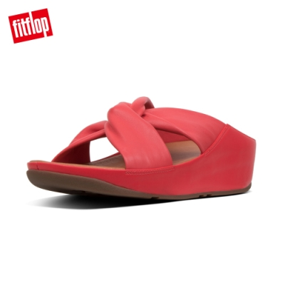 FitFlop TWISS LAETHER SLIDES 涼鞋 熱情紅