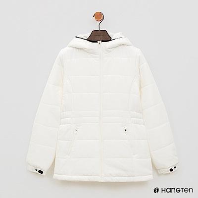 Hang Ten - 女裝 - ThermoContro-縮腰立領連帽外套-白