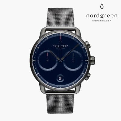 Nordgreen Pioneer 先鋒 深空灰系列 深空灰 鈦鋼米蘭錶帶手錶 42mm
