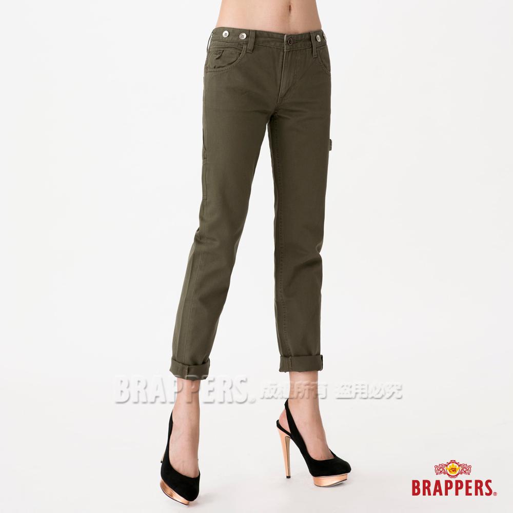 BRAPPERS 女款 Boy Firend Jeans 女用九分反摺工作褲-綠