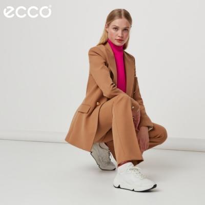 ECCO CHUNKY SNEAKER W 潮趣簡約輕量單色休閒運動鞋 女鞋白色