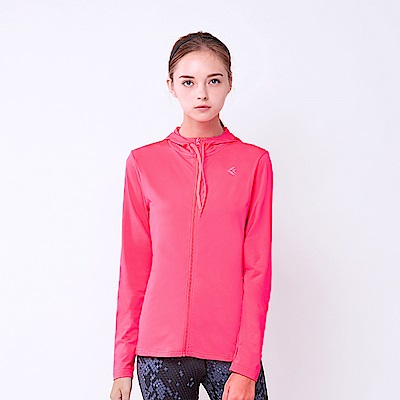 【KENBOO】女款抗UV針織外套-淺紅