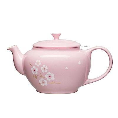 LE CREUSET 瓷器中式茶壺 (雪紡粉/櫻花)