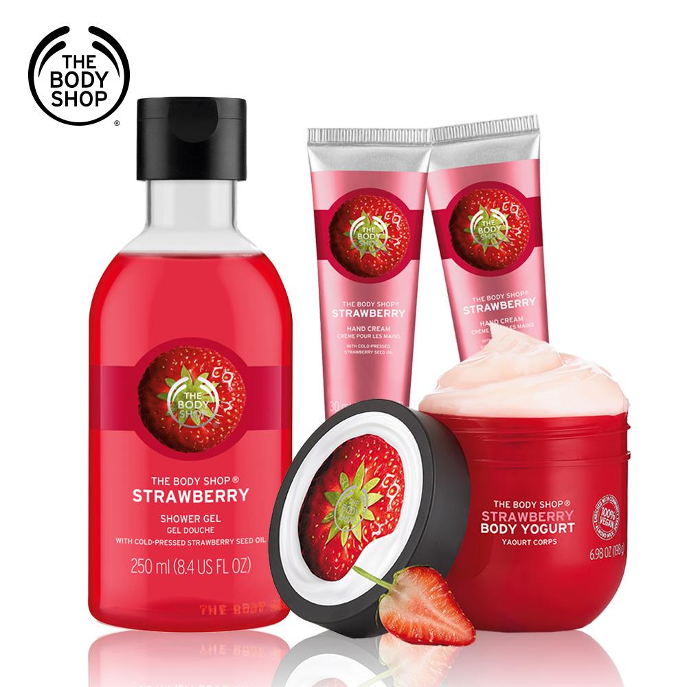 The Body Shop 草莓嫩白美肌沐浴組