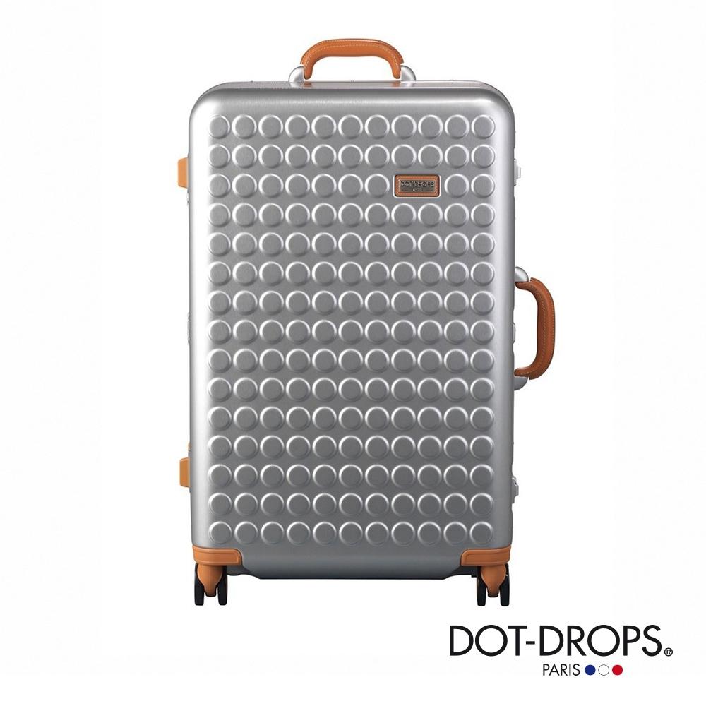 DOT-DROPS 28 吋 Chapter 4 時尚點點鋁框硬殼行李箱 - 閃耀銀