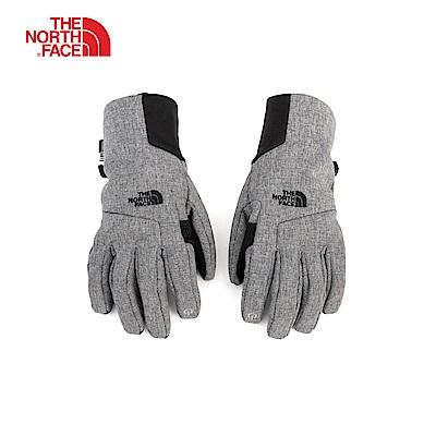 The North Face北面男款灰色防風保暖可觸屏手套|3KPQJBV