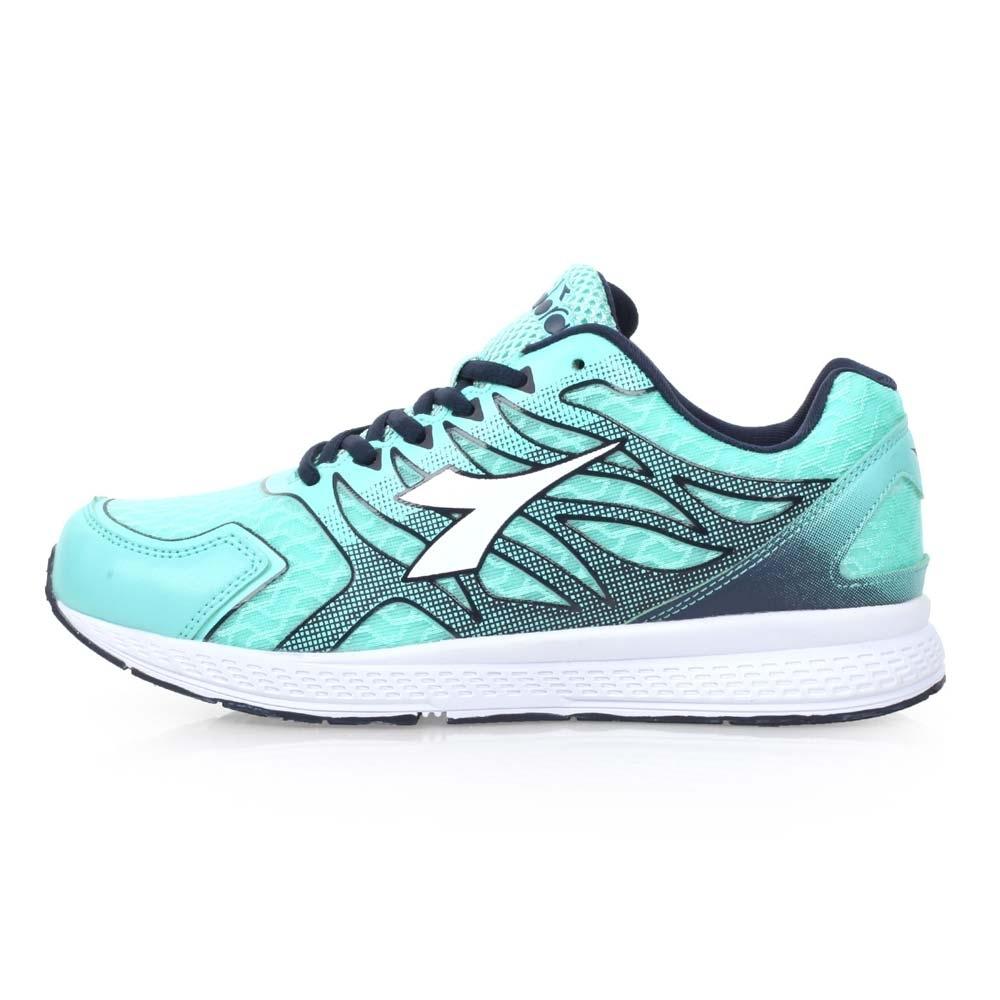 DIADORA 女慢跑鞋-路跑 湖水綠白