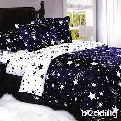BEDDING-活性印染6尺雙人加大薄床包涼被組-流星雨