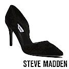 STEVE MADDEN-ROSLINDA絨面尖頭中空內腰高跟鞋-黑色