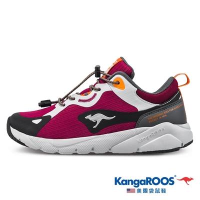 KangaROOS 女 ZEPHYR 防撥水跑鞋(紅藍-KW11422)