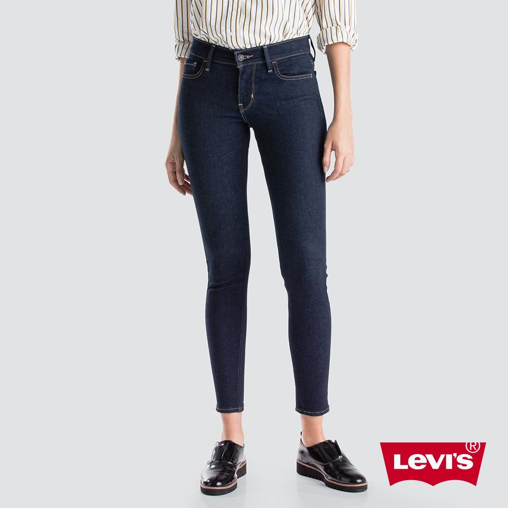 Levis 女款 710 中腰超緊身窄管 超彈力牛仔長褲