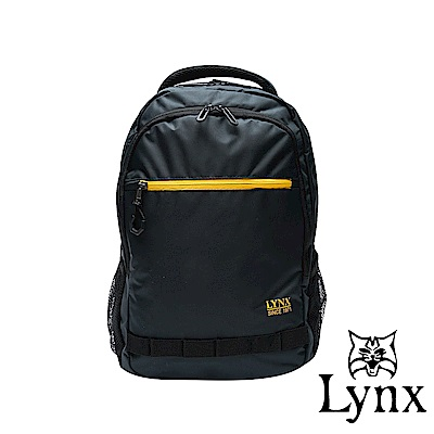 Lynx - 美國山貓商務休閒款防潑水耐磨機能後背包-藍色