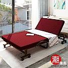 C est Chic-哲學之道6段收納折疊床-幅90cm(可拆洗免安裝)-酒紅