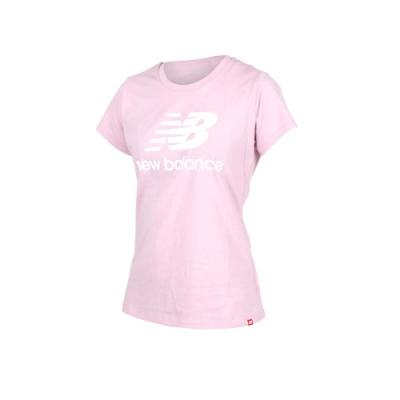 NEWBALANCE 女 短袖T恤 NEW BALANCE 粉紅白