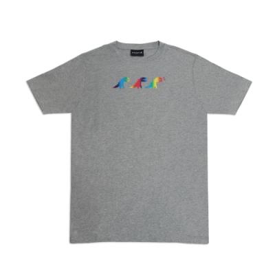 agnes b. - Sport b. 炫彩恐龍印花圓領短袖上衣(男)(灰)