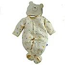 三層棉極暖帽衣腳三件套兔衣組 b0115 魔法Baby