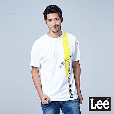 Lee 撞色寬版短袖圓領TEE