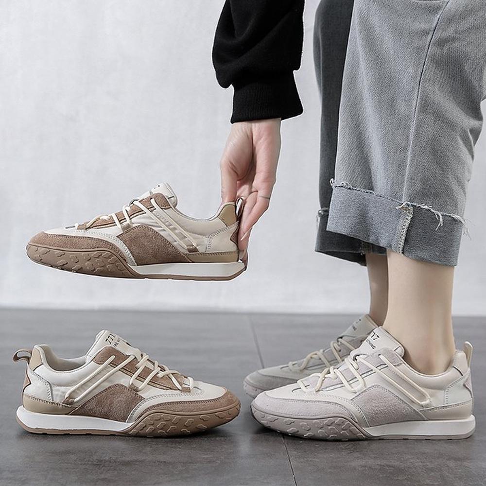 LN  現+預 復古風軟底休閒阿甘鞋(休閒鞋) (淺棕色)