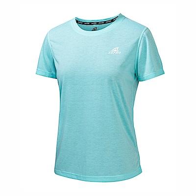 【ZEPRO】女子能量輕感透氣排汗短T-水藍