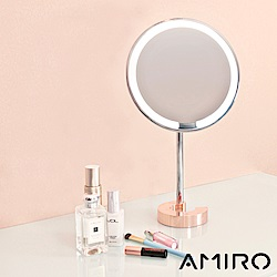 AMIRO C 系列高質感全金屬高清日光化妝鏡 -玫瑰金 (無線版)