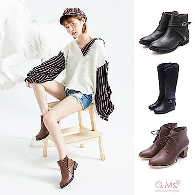 [時時樂限定]G.Ms. 全牛皮 經典長靴短靴-多款任選