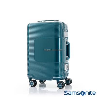 Samsonite新秀麗 20吋Tri-Tech摩登PC鋁框減震輪TSA登機箱(土耳其藍)