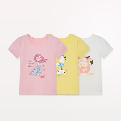 麗嬰房 【EASY輕鬆系列】 女童海盜樂園印花短袖上衣 (76cm~130cm)
