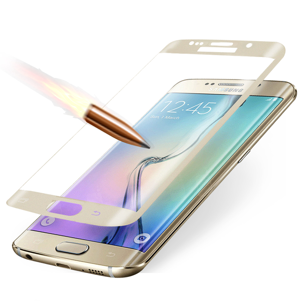 YANGYI揚邑 Samsung S6 edge 滿版3D防爆防刮 9H鋼化玻璃保護貼膜 @ Y!購物