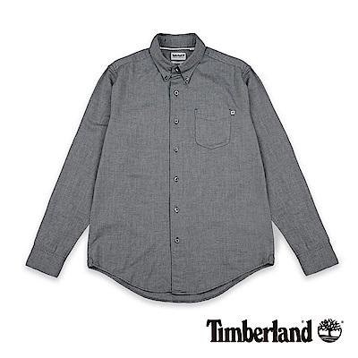 Timberland 男款灰色長袖Gale River 牛津襯衫|A1NJX