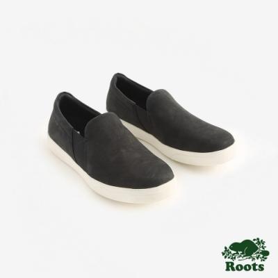 Roots女鞋- 休閒懶人鞋-黑