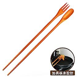 佶之屋 三合一加長型調理匙叉筷