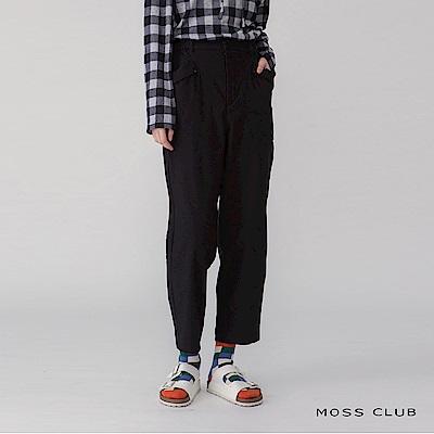 【MOSS CLUB】 日系休閒舒適-長褲(黑色)