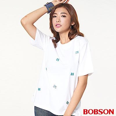 BOBSON 女款刺繡珠飾上衣
