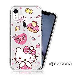 Hello Kitty iPhone XR 彩繪水鑽手機空壓殼 - 甜甜圈
