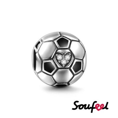 SOUFEEL索菲爾 925純銀珠飾 足球 串珠