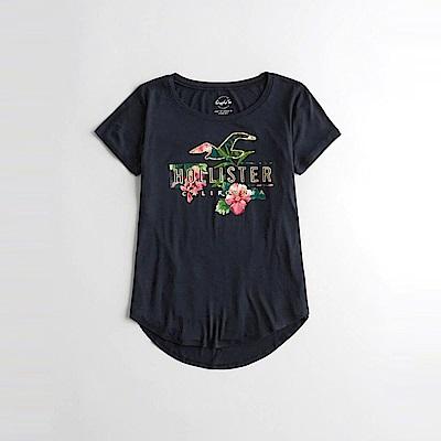HCO Hollister 海鷗 經典印刷文字圖案短袖T恤(女)-深藍色