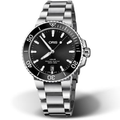 Oris豪利時Aquis時間之海300米潛水錶-39.5mm/黑