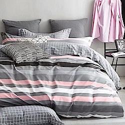 戀家小舖 / 單人床包枕套組 活性棉-三款可選 100%純棉