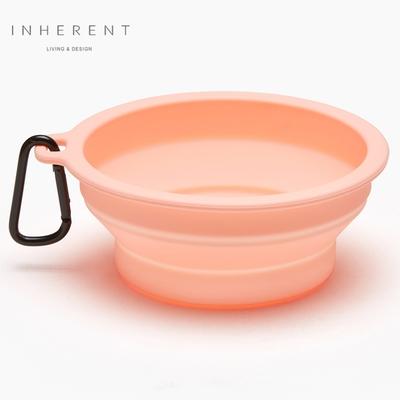 韓國Inherent 馬卡龍折疊輕便碗 寵物碗 狗碗 果凍粉