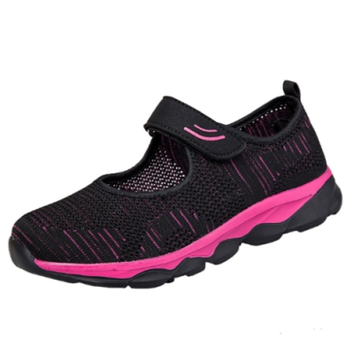 韓國KW美鞋館-輕柔舒適飛織輕量跳舞休閒鞋 黑