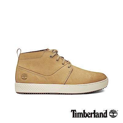 Timberland 男款中駝色磨砂革休閒鞋|A1XH2