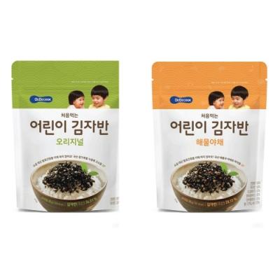 韓國 【BEBECOOK】 嬰幼兒初食海苔酥2入組(原味、海味蔬菜)