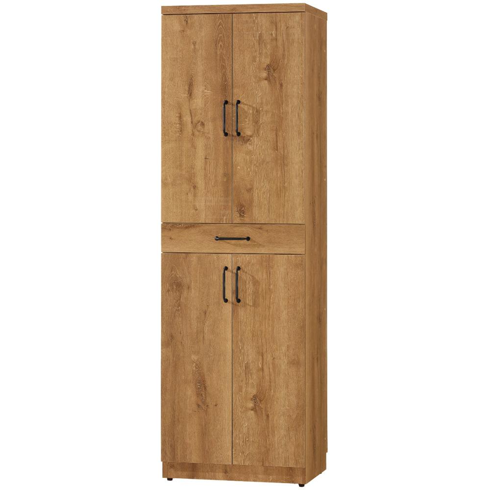 文創集 瑞米2尺四門單抽高雙面鞋櫃(二色)-60.5x38x196.5cm免組